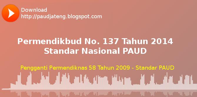 Permen 137 Tahun 2014 Standar Nasional PAUD + Lampiran